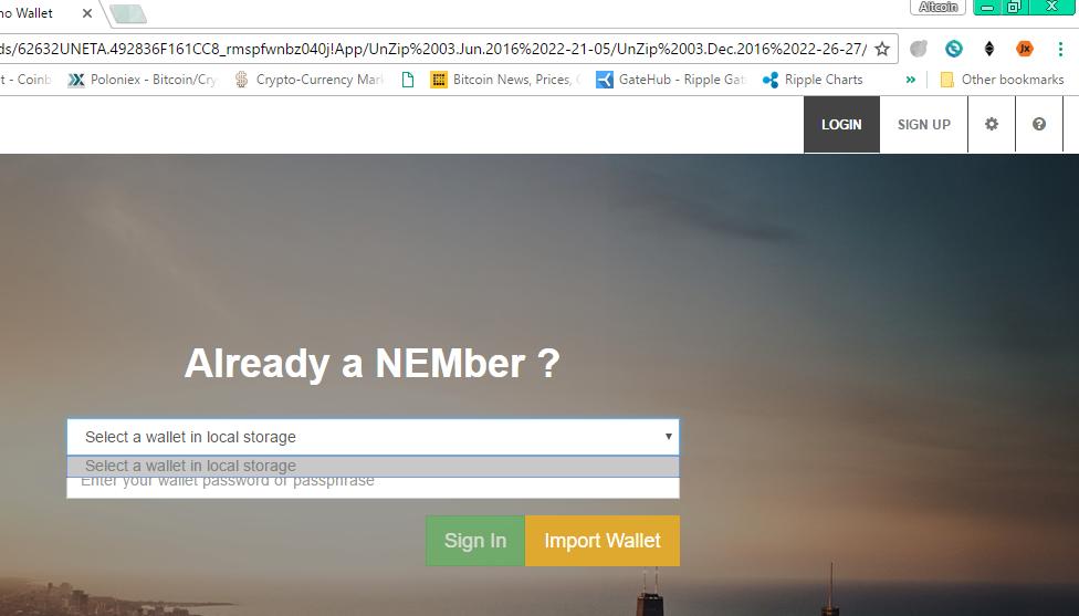 Nano wallet Help [SOLVED] - Tech Support - NEM Forum