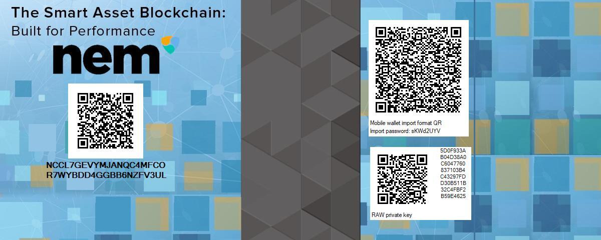 Voucher & Paper Wallet Generator - Projects - NEM Forum