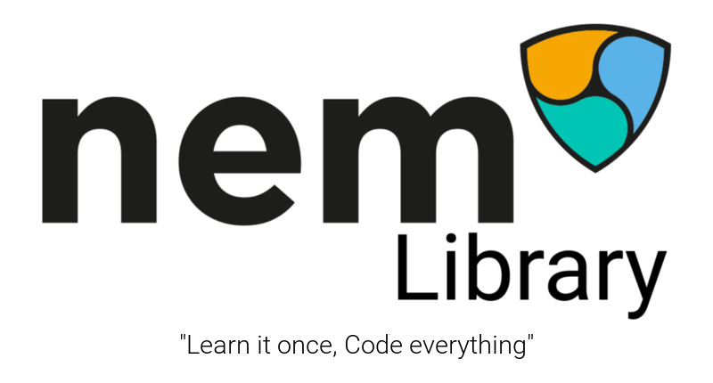 nem library logo with clime white